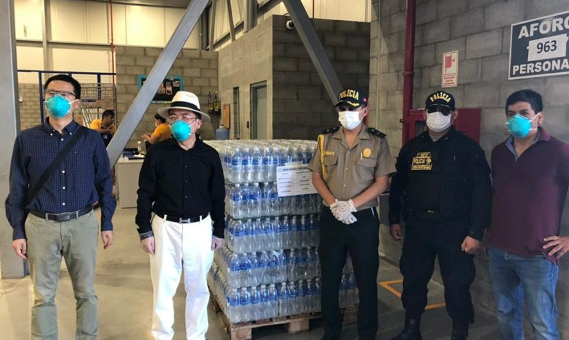 Rio Blanco Copper  apoyó con agua a los miembros de las fuerzas armadas