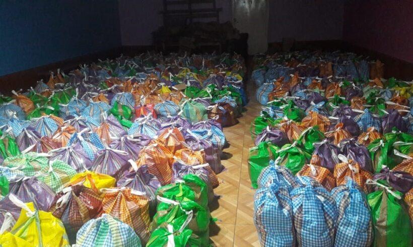 COVID- 19: Donamos aproximadamente 30 toneladas de alimentos a familias vulnerables.
